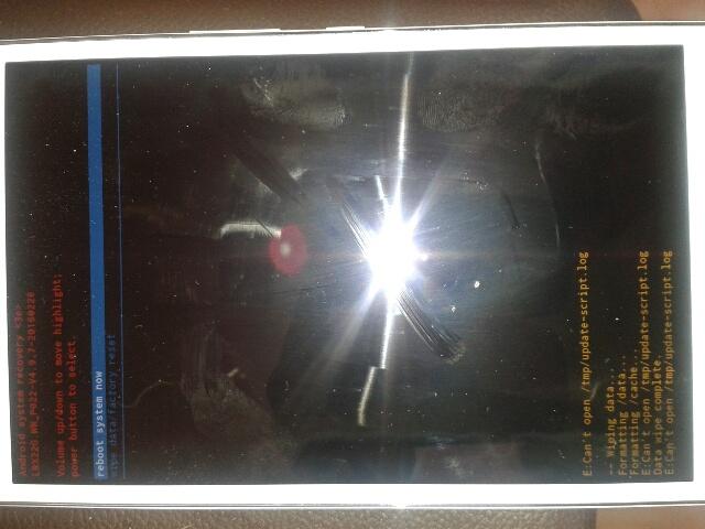 Tablette zenpad Z380 bloquée sur ecran démarrage - Autres