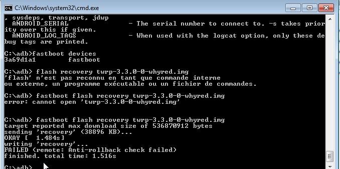Unlock bootloader