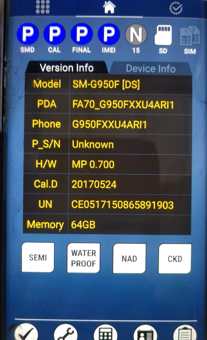 Recherche firmware Samsung S8 G950FXU4ARI1 - Samsung Galaxy